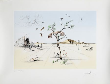 Etching And Aquatint Dali - Les Arbres ne répondent plus (1983)