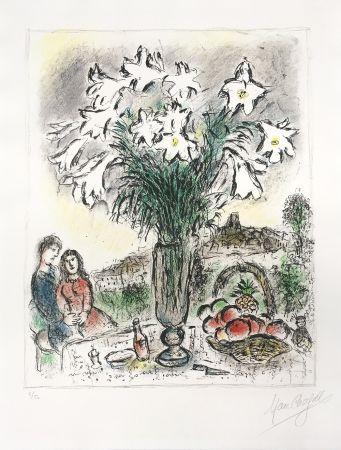 Lithograph Chagall - Les Arums