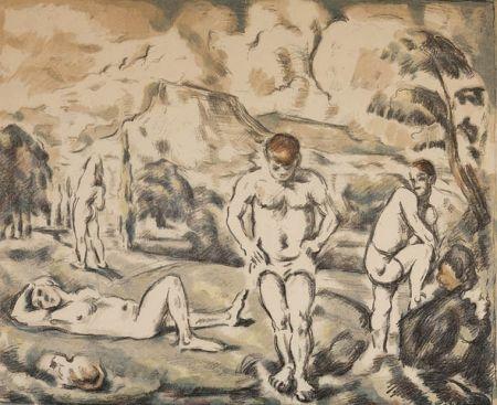 Lithograph Cezanne - Les baigneurs / The Bathers