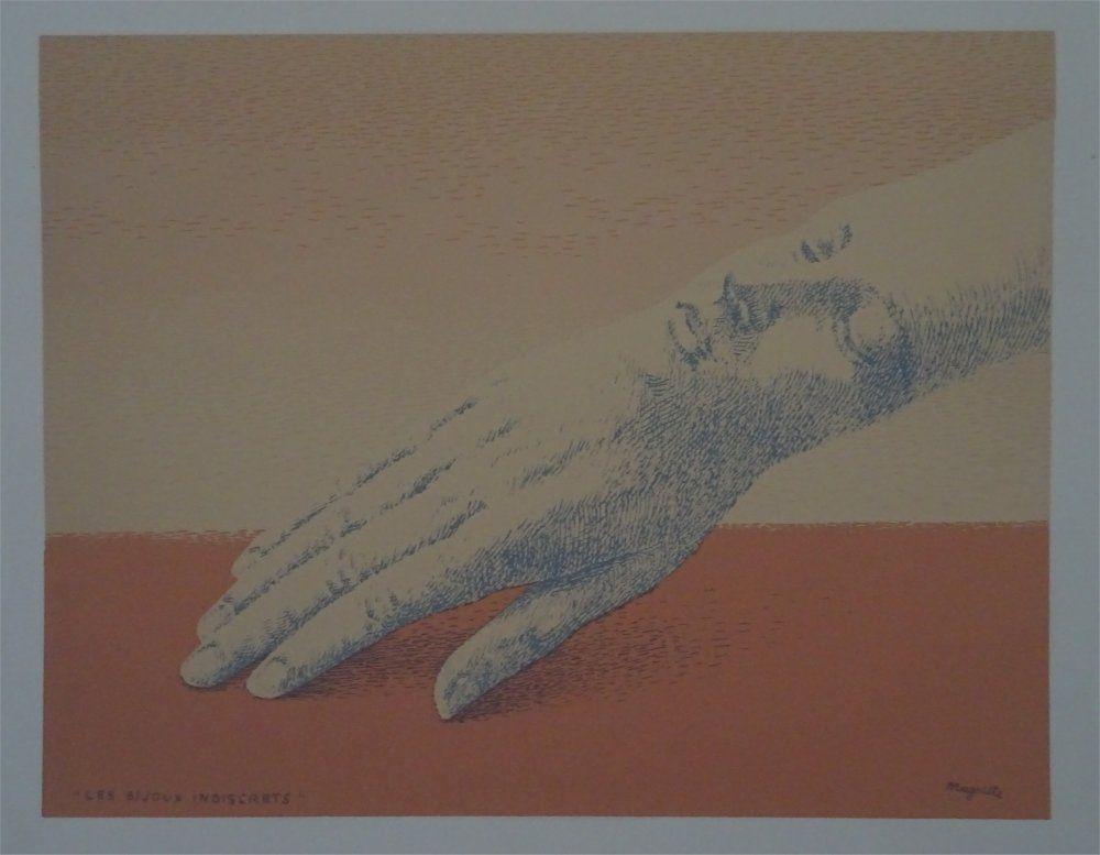 Lithograph Magritte - Les Bijoux indicrets