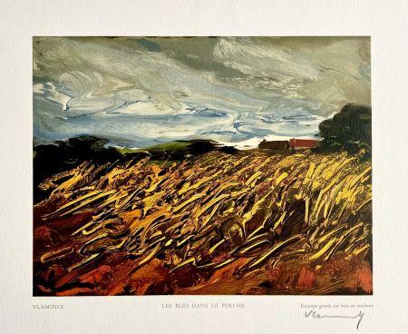 Woodcut Vlaminck - Les Blés dans le Perche