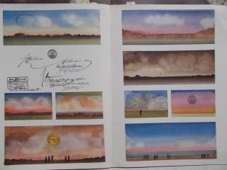 Lithograph Steinberg - Les cartes postales