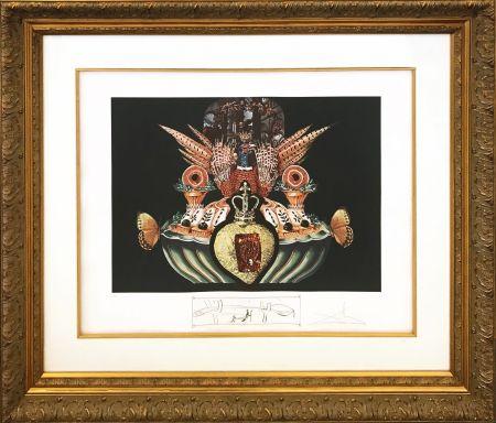 Lithograph Dali - LES CHAIRS MONARCHIQUES