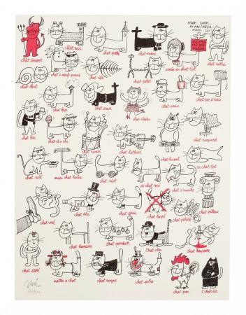 Lithograph Siné - Les chats