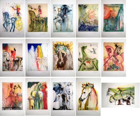 Etching And Aquatint Dali - LES CHEVAUX DALINIENS : 25 lithographies en couleurs signées au crayon (1972/1980)