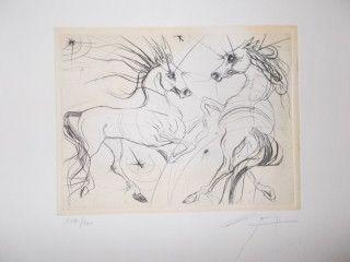 Etching Guiny - Les chevaux de Jupiter