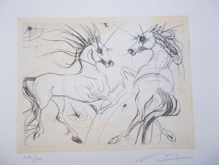 Etching Guiny - Les chevaux du printemps