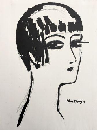 Lithograph Van Dongen - Les Cheveux Courts