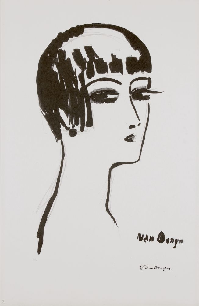 Lithograph Van Dongen - Les Cheveux Courts, 1th State