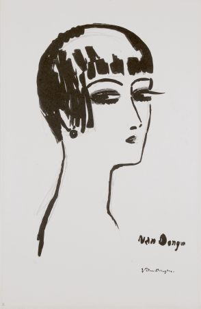 Lithograph Van Dongen - Les Cheveux Courts, 1th State