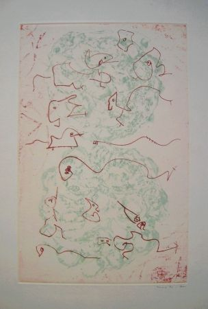 Etching And Aquatint Ernst - Les Chiens Ont Soif