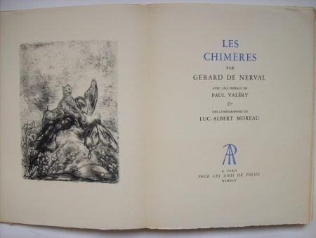 Illustrated Book Moreau - Les Chimères, par Gérard de Nerval. Avec une préface de Paul Valéry & des lithographies de Luc-Albert Moreau