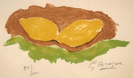 Lithograph Braque - Les citrons