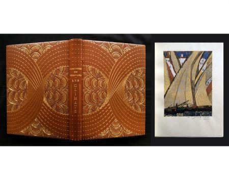 Illustrated Book Schmied - LES CLIMATS. L'exemplaire de F.-L. Schmied avec gouaches originales, suites signées dans une reliure de Cretté.