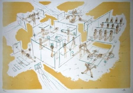 Lithograph Matta - Les convaincus