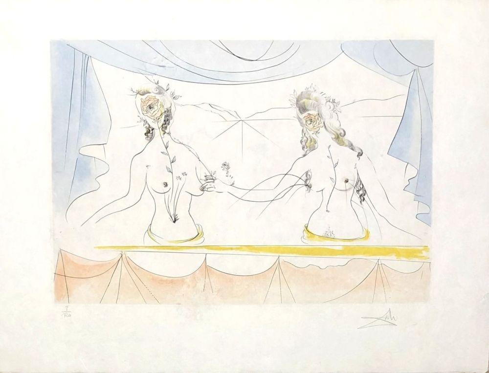 Etching Dali - Les dames de la renaissance
