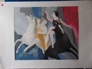 Lithograph Laurencin - Les danseuses équestre