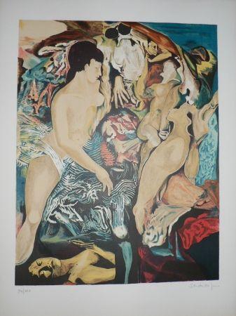 Lithograph Schoendorff -  Les Demoiselles d'Avignon