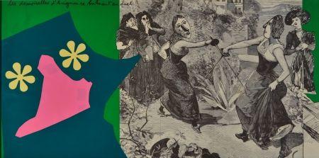 Lithograph Baj - Les demoiselles d'Avignon