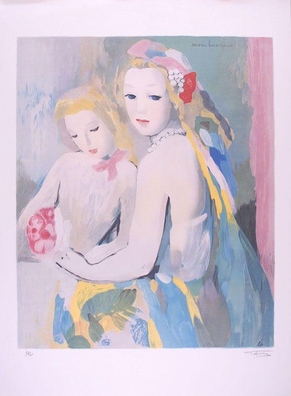 Lithograph Laurencin - Les deux amies
