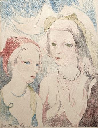 Lithograph Laurencin - Les deux anges
