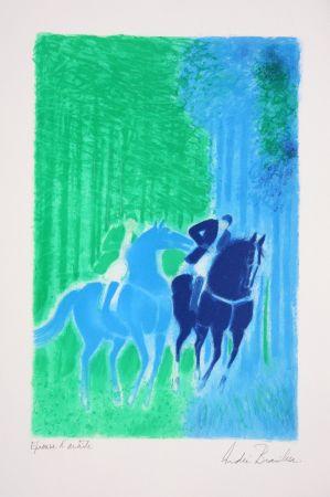 Lithograph Brasilier - Les Deux Cavaliers
