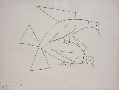 Lithograph Picasso - Les Deux Tourterelles II (B. 406)