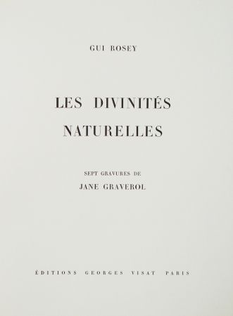 Illustrated Book Graverol - Les divinités naturelles