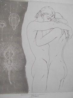 Lithograph Trémois - Les empreintes de l'amour