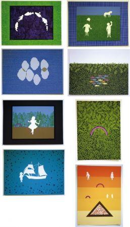 Lithograph Maglione - Les enfants dans la prairie