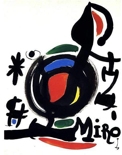 Lithograph Miró - Les Esencies de la Terra