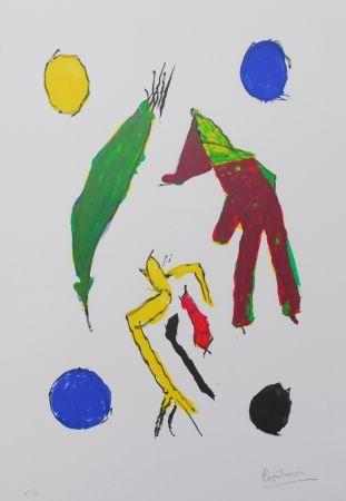 Lithograph Ionesco - Les esprits et leurs lunes