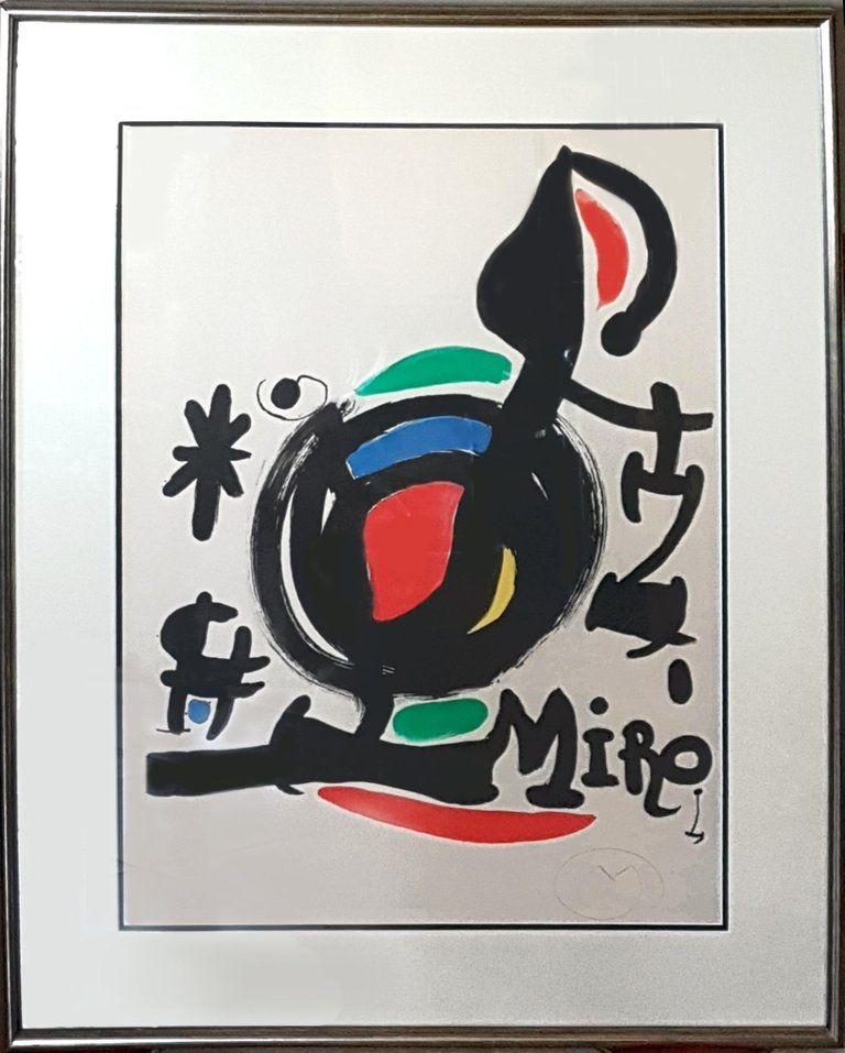 Lithograph Miró - Les Essencies de la Terra Exhibition (M. 625)
