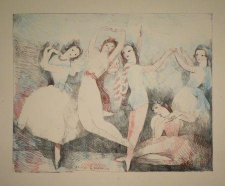 Lithograph Laurencin - Les fêtes de la danse
