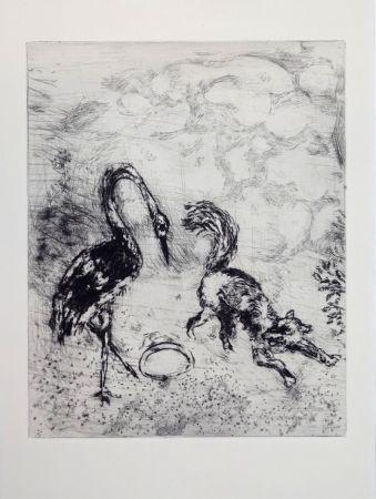 Etching Chagall - Les fables de La Fontaine