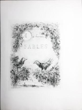 Engraving Chagall - Les Fables de La Fontaine (Couverture gravée du tome 2). 1952