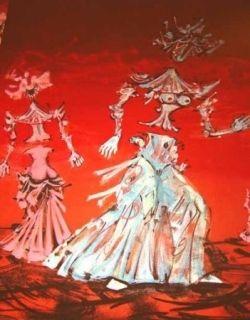 Lithograph Coutaud - Les femmes fleurs