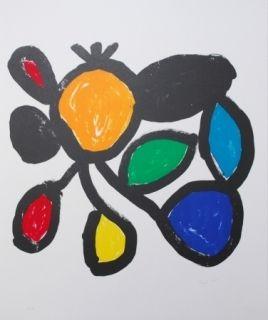 Lithograph Ionesco - Les fleurs