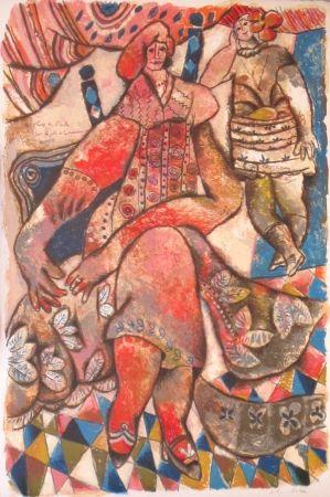Lithograph Tobiasse - Les fleurs de l'aube....
