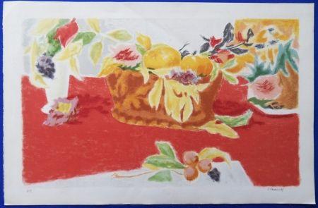 Lithograph Cavailles - Les Fruits