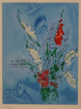 Lithograph Chagall (After) - Les Glaieules