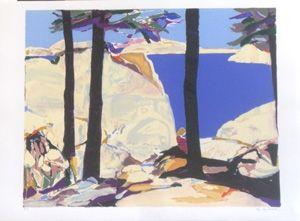 Lithograph Godard - Les grands arbres