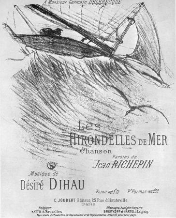 Lithograph Toulouse-Lautrec - Les Hirondelles de Mer