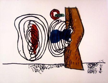 Lithograph Le Corbusier - Les Huit