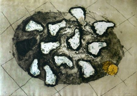 Etching Barcelo - Les huitres