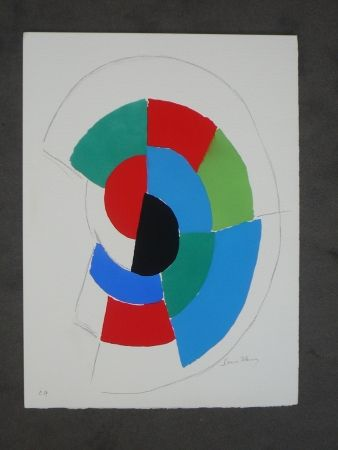 Pochoir Delaunay - Les  illumination de Rimbaud