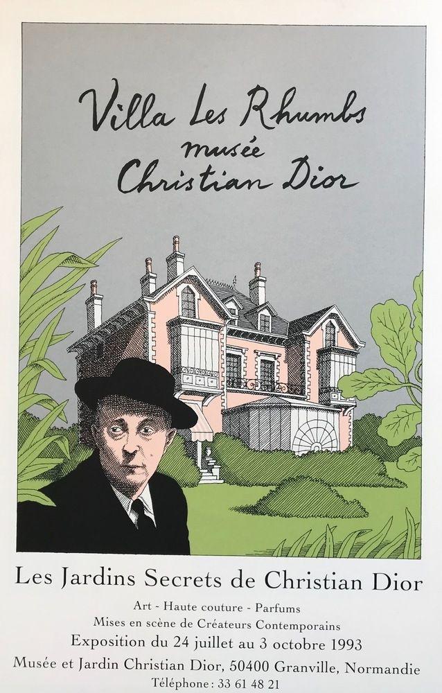 Screenprint Le-Tan - Les Jardins secrets de Christian Dior