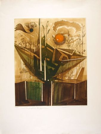 Etching And Aquatint Lubarow - Les jongleries du Gyroscope