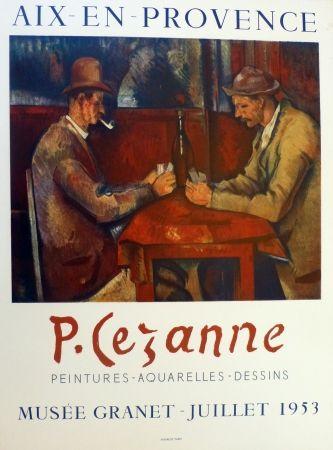 Lithograph Cezanne - Les joueurs de carte