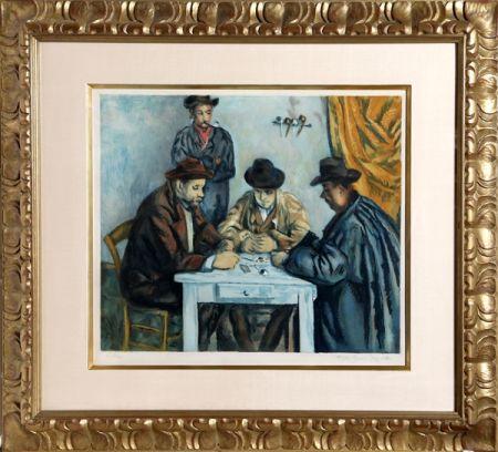 Aquatint Villon - Les Joueurs des Cartes (The Card Players) after Cezanne